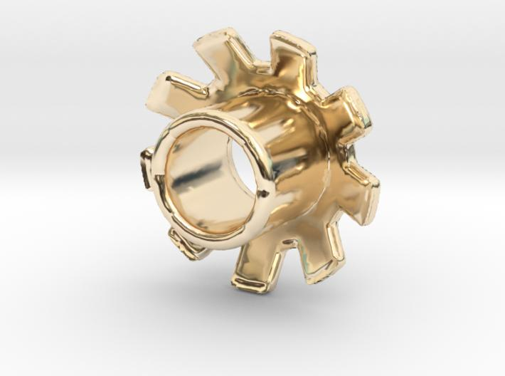 Standard 3D Eyelet 3/16 Inch - 14k Gold Plated Brass