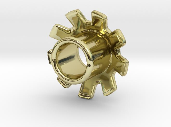 Standard 3D Eyelet 3/16 Inch - 18k Gold Plated Brass