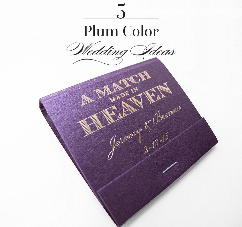5 Plum Wedding Color Ideas