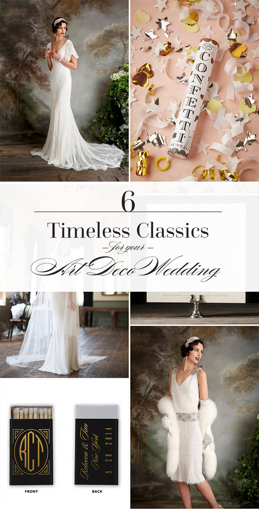 6 Timeless Classics For Your Art Deco Wedding