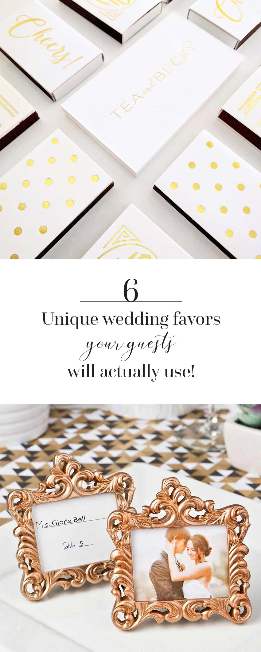 6 Unique Wedding Favors That Your Guests Will Actually Use