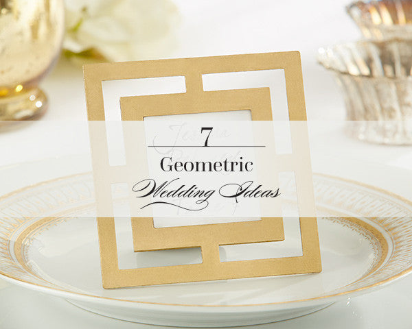7 Geometric Wedding Ideas That Excite Us