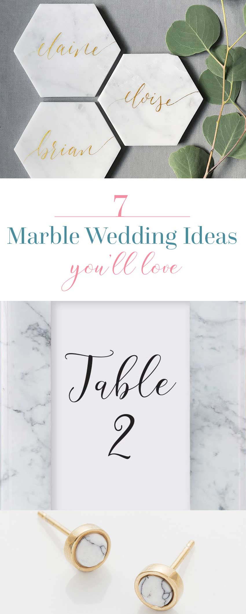 7 Marble Wedding Ideas You'll Love!