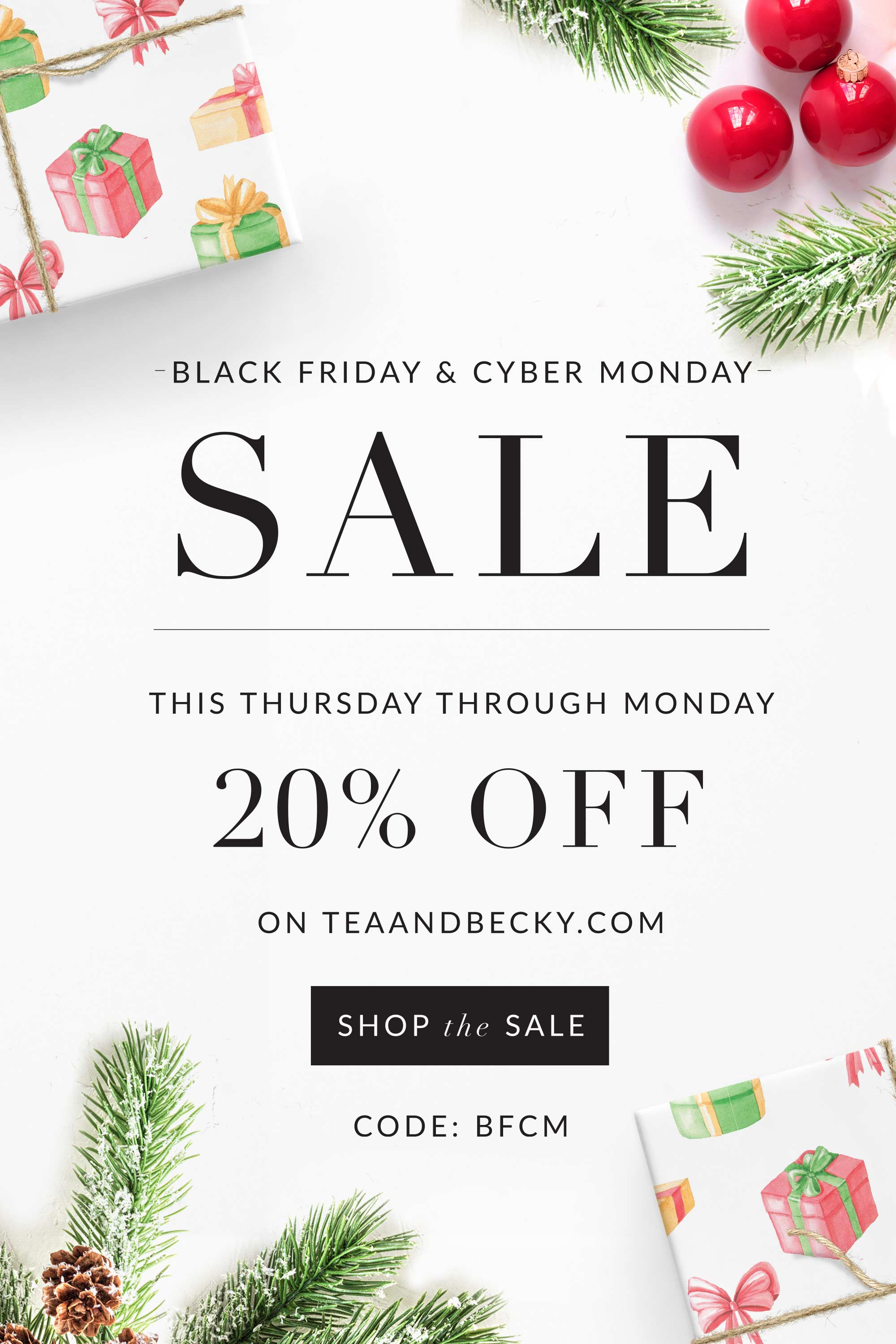 20% Off Black Friday Sale Starts Now!