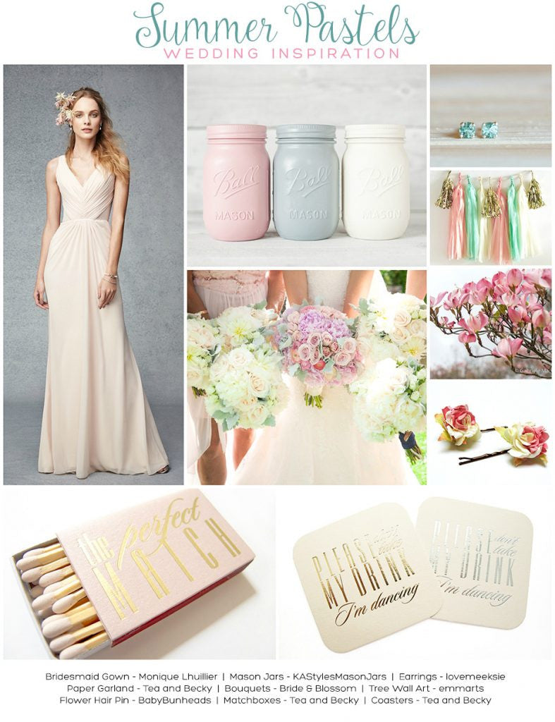 Summer Pastels Wedding Inspiration
