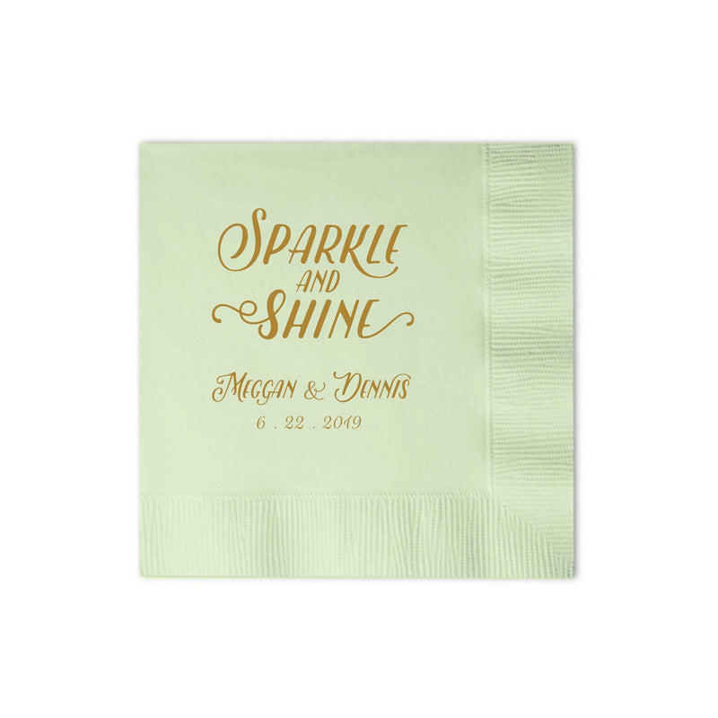 Custom Napkins Sparkle and Shine - Set of 100 - Emma Collection - Tea and Becky