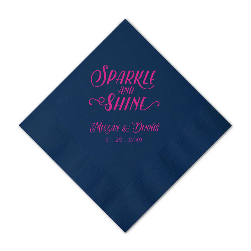 Custom Napkins Sparkle and Shine - Emma Collection - Tea and Becky