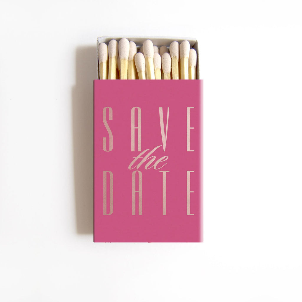 Pink and Gold Wedding Matches Set of 20 - The Perfect Match – Tea ...