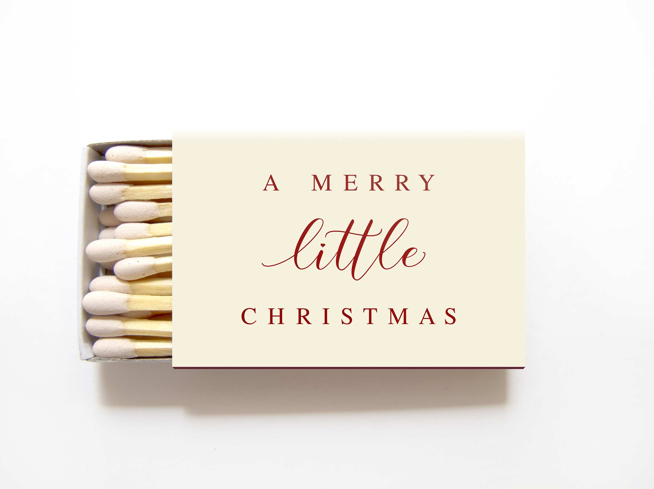 Merry Little Christmas.Merry Little Christmas Matchboxes Personalized Holiday Matches