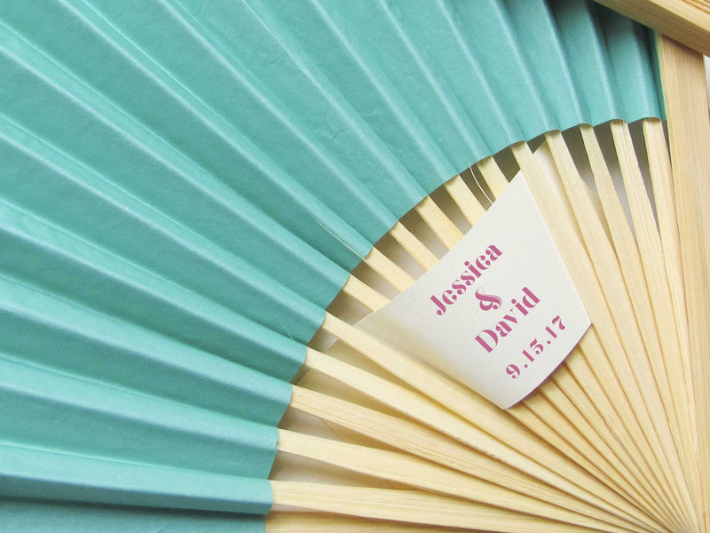 Personalized Fans - Set of 25 - Wedding Favors – More Colors - Tea and Becky