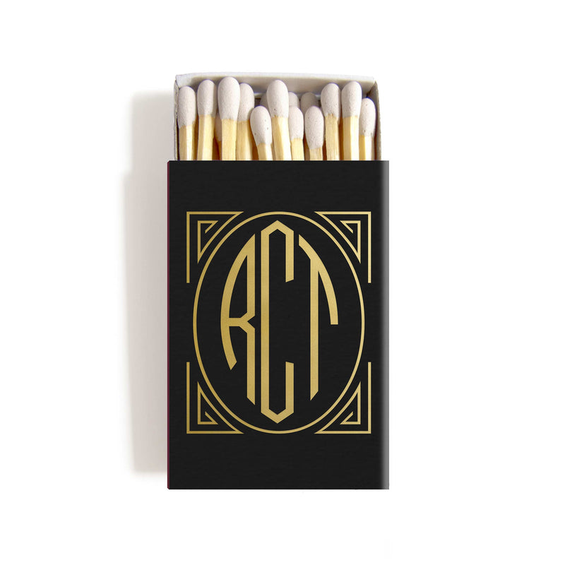 Art Deco Matchboxes - Personalized Foil Matches - Daisy Collection - Tea and Becky