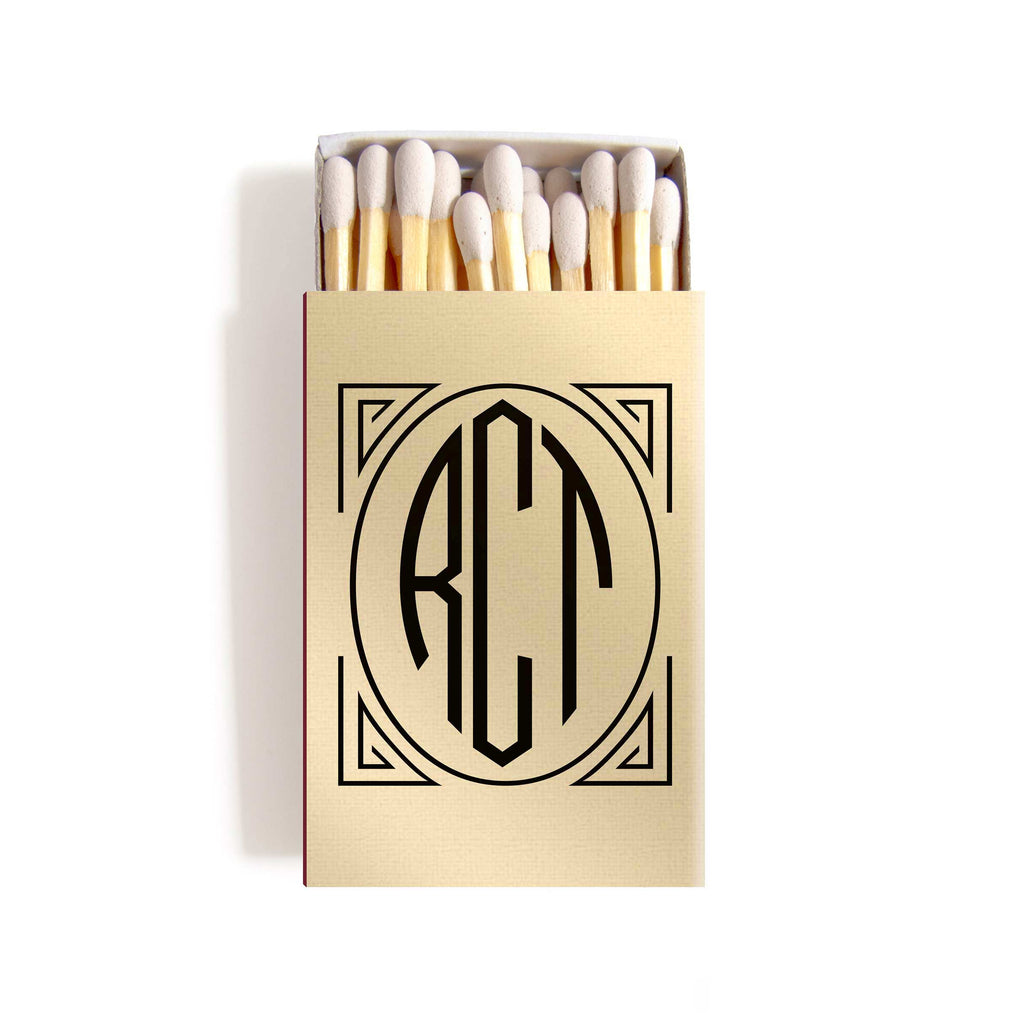 Art Deco Matchboxes - Personalized Foil Matches - Daisy Collection ...