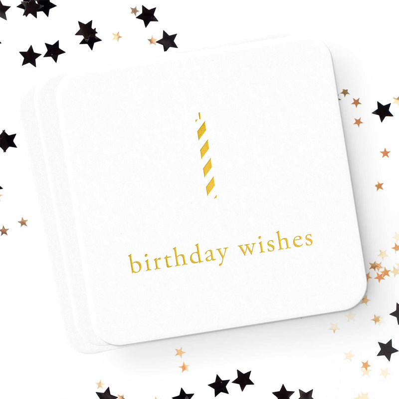 Birthday Wishes Coasters - Set of 10 - Tea and Becky