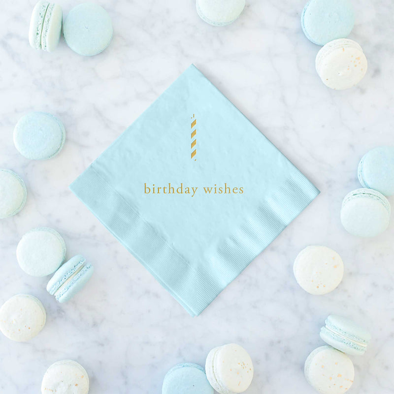 Birthday Wishes Napkins  - Set of 25 - Tea and Becky