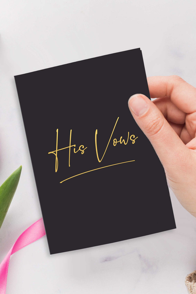 Vow Books - Blush and Black with Gold Foil - Tea and Becky