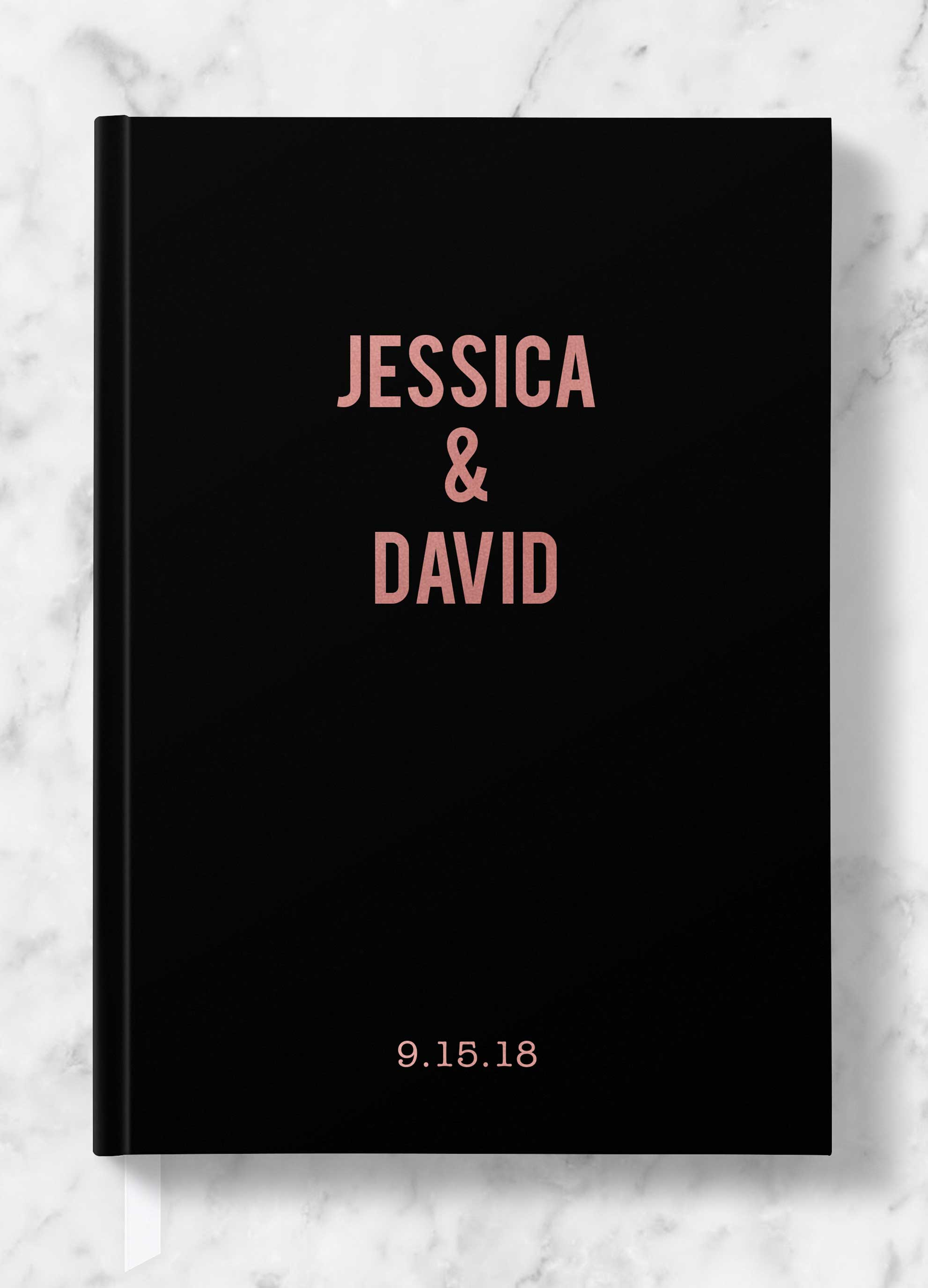 Personalized Wedding Guest Book.Modern Personalized Wedding Guest Book Gold Silver Or Rose Gold Foil Kylie Collection