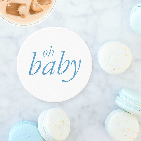 Oh Baby Coasters - Blue - Tea and Becky