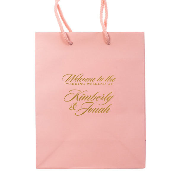The Weekend Wedding Welcome Bags Personalized Gift Bag Carrie