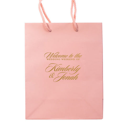 The Weekend Wedding Welcome Bags - Personalized Gift Bag - Carrie Collection - Tea and Becky