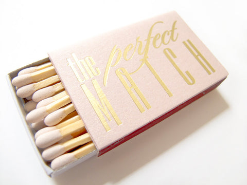The Perfect Match - Personalized Matchboxes - Carrie Collection - Tea and Becky