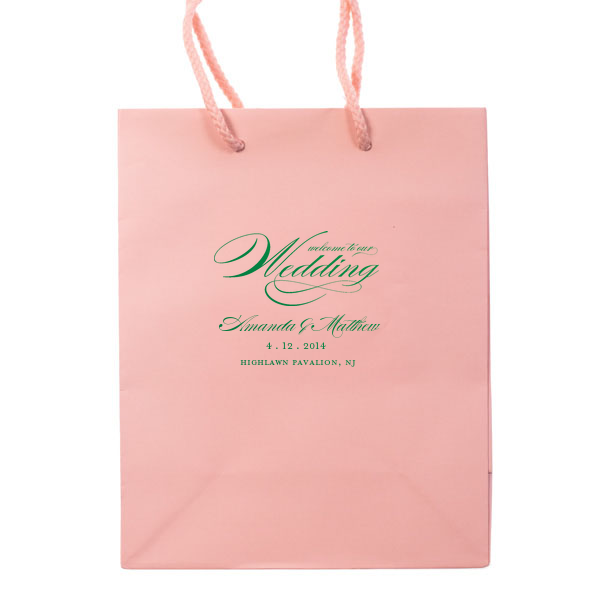 Welcome to Our Wedding Bags - Personalized Gift Bag - Audrey ...