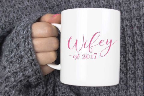 Wifey Mug Bride Gift - More Colors - Tea and Becky