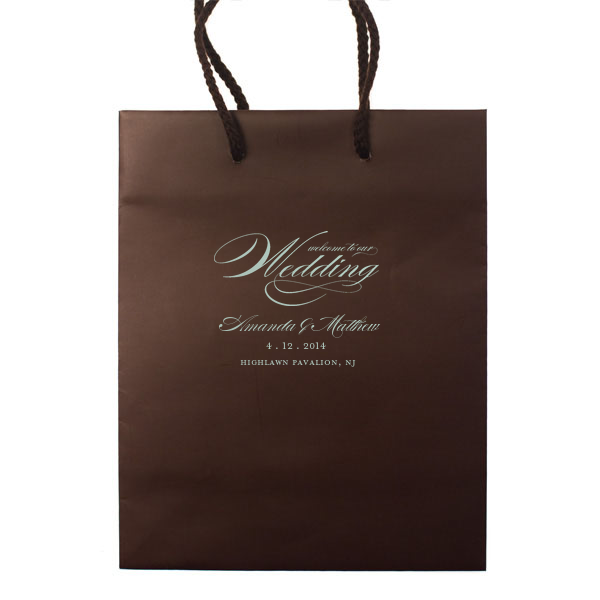 Welcome to Our Wedding Bags - Personalized Gift Bag - Audrey Collection - Tea and Becky