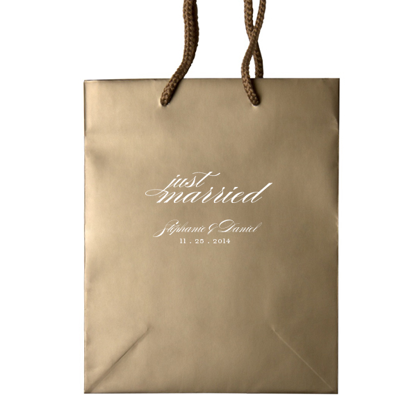 Just Married Wedding Welcome Bags Personalized Gift Bag Audrey