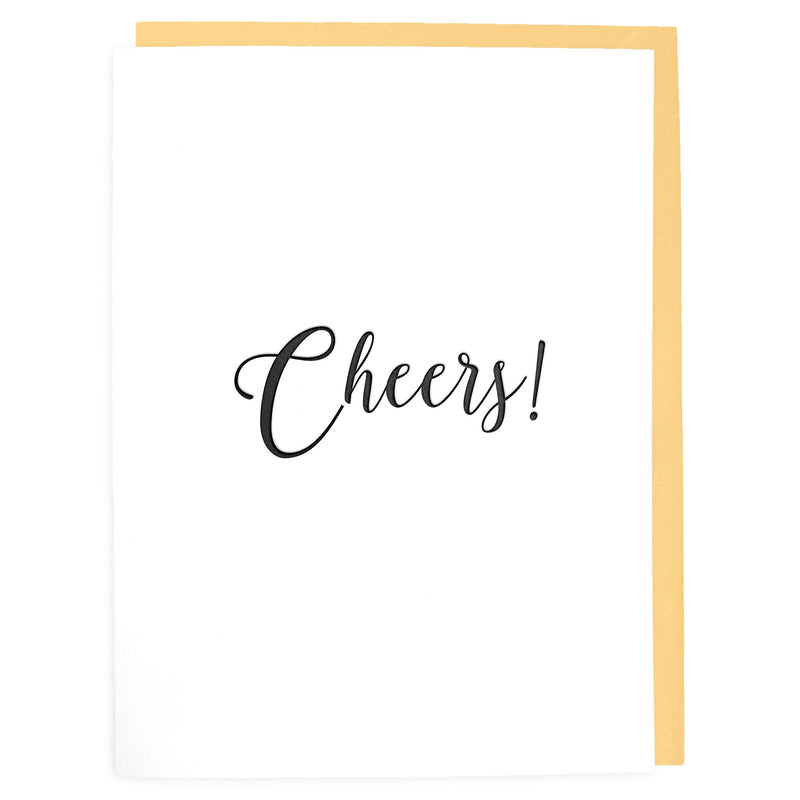 Cheers Card - Letterpress Greeting Card - Tea and Becky