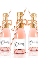 Cheers Mini Champagne Bottle Labels - Tea and Becky