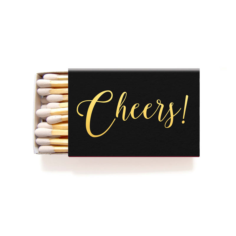 Cheers Matches - Foil Personalized Matchboxes - Rebecca Collection - Tea and Becky