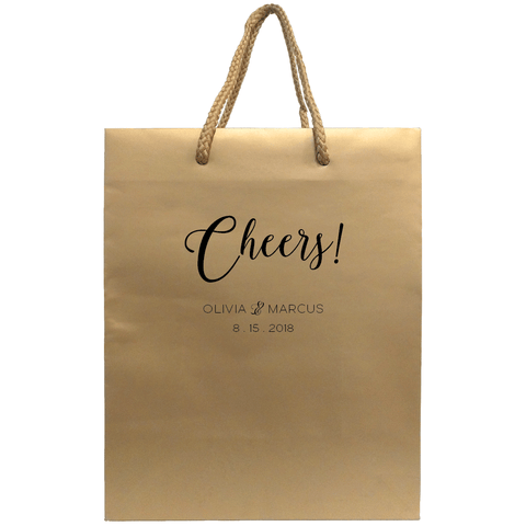 Cheers Wedding Welcome Bags - Personalized Gift Bag - Rebecca Collection - Tea and Becky
