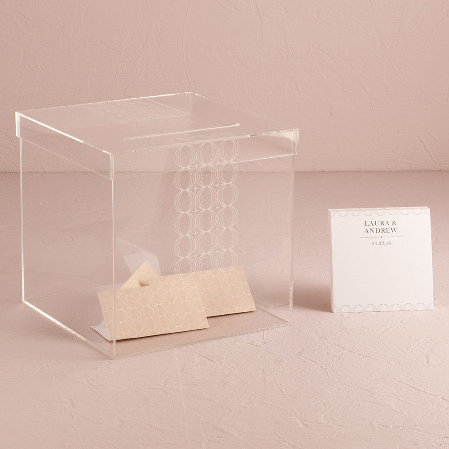 Circle Of Love Lucite Wedding Card Box - Personalization Options ...