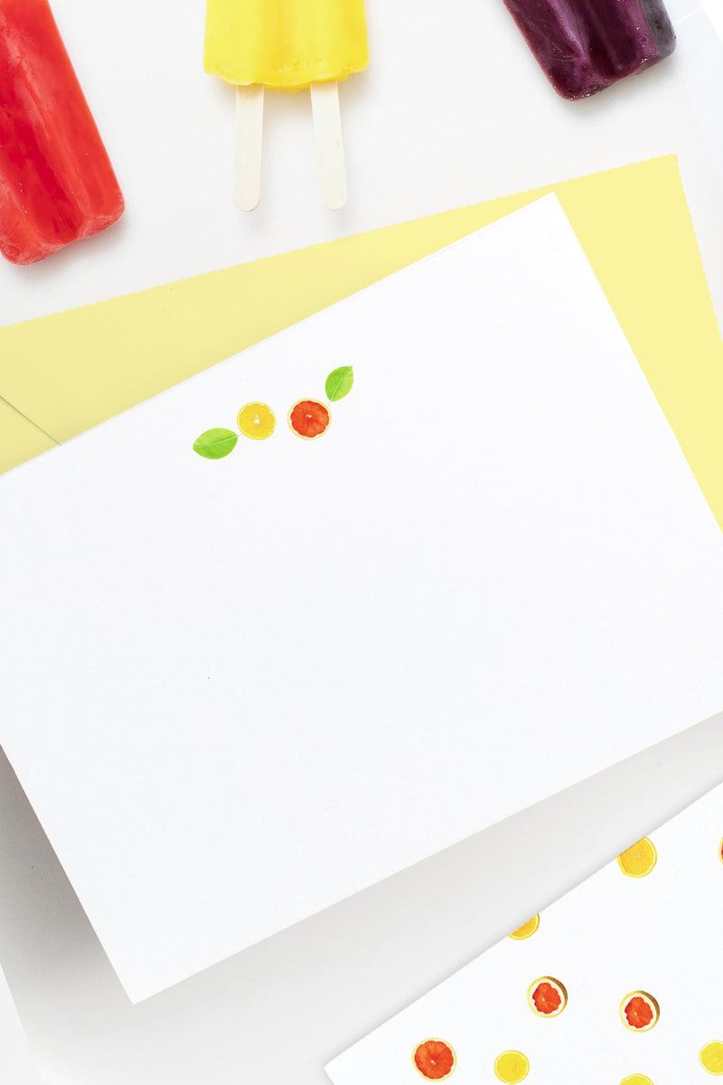Citrus Note Set - Social Stationery - Tea and Becky