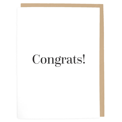 Congrats Card - Letterpress Greeting Card - Tea and Becky
