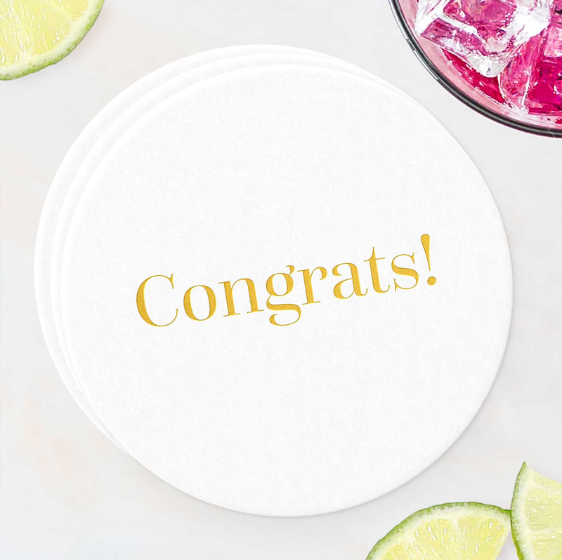 Congrats Coasters - Set of 10 - Tea and Becky