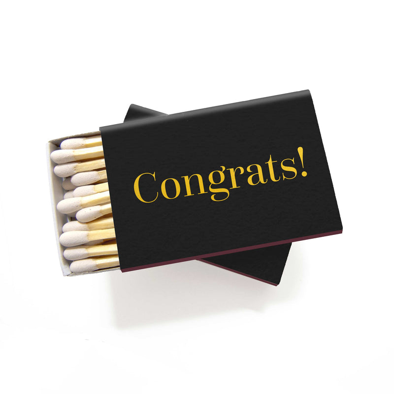 Congrats Matchboxes - Set of 6 - Tea and Becky