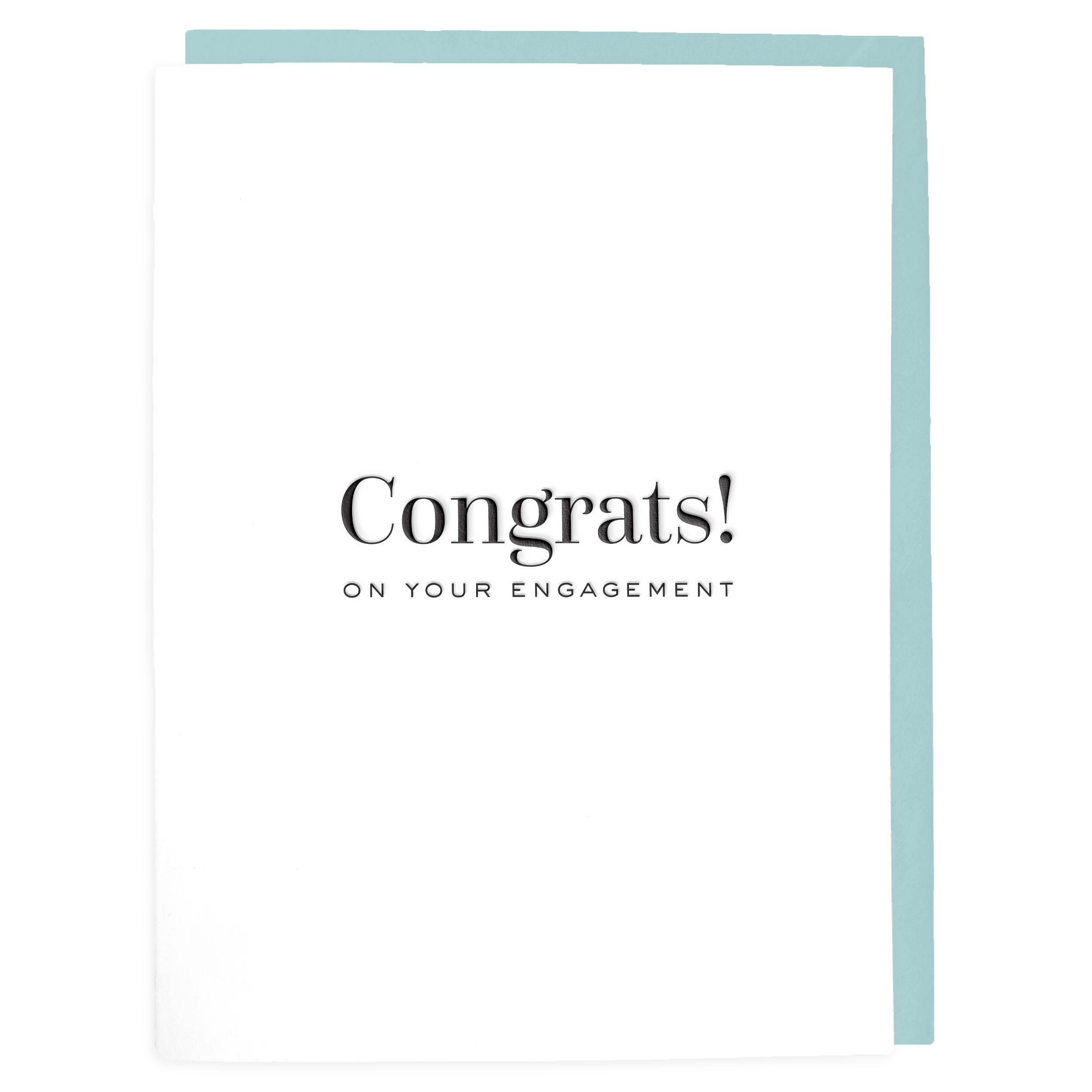 Congrats On Your Engagement Letterpress Greeting Card Tea And Becky