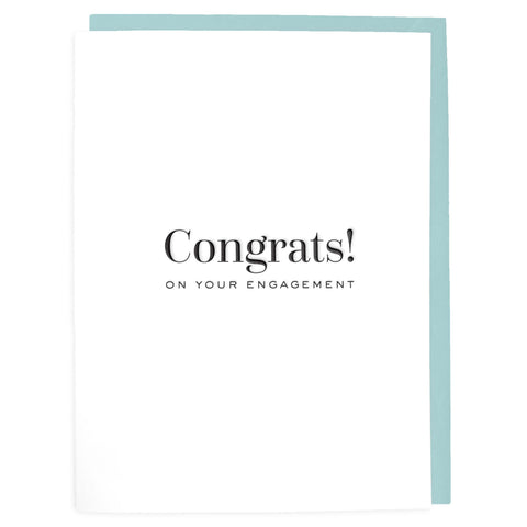 Congrats on your Engagement Letterpress Greeting Card - Tea and Becky