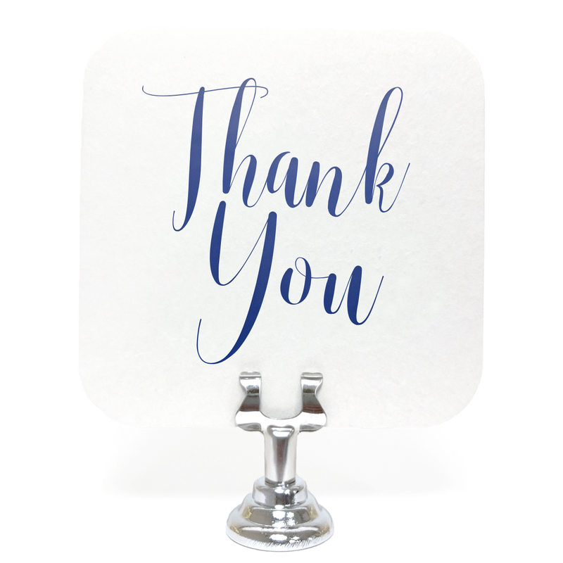 Elegant Thank You Coasters - Set of 10 - Tea and Becky