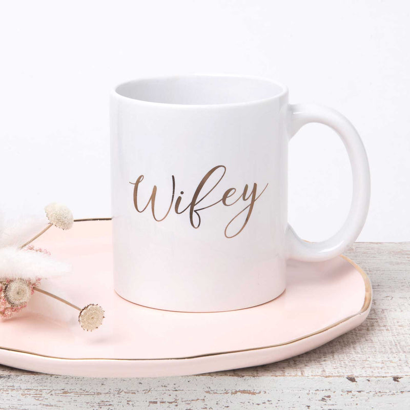Gold Wifey Mug - 11 oz - Tea and Becky