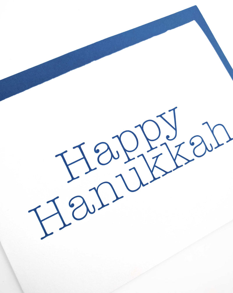 Happy Hanukkah Letterpress Cards - Set of 6 - Tea and Becky