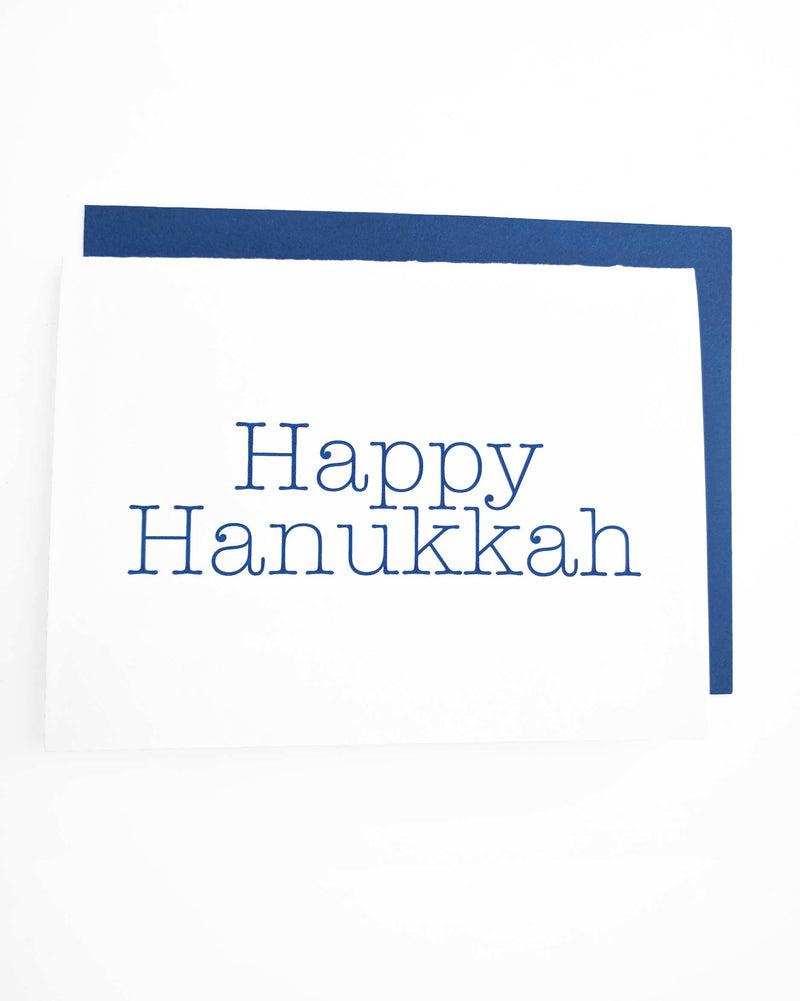 Happy Hanukkah Letterpress Card - Tea and Becky