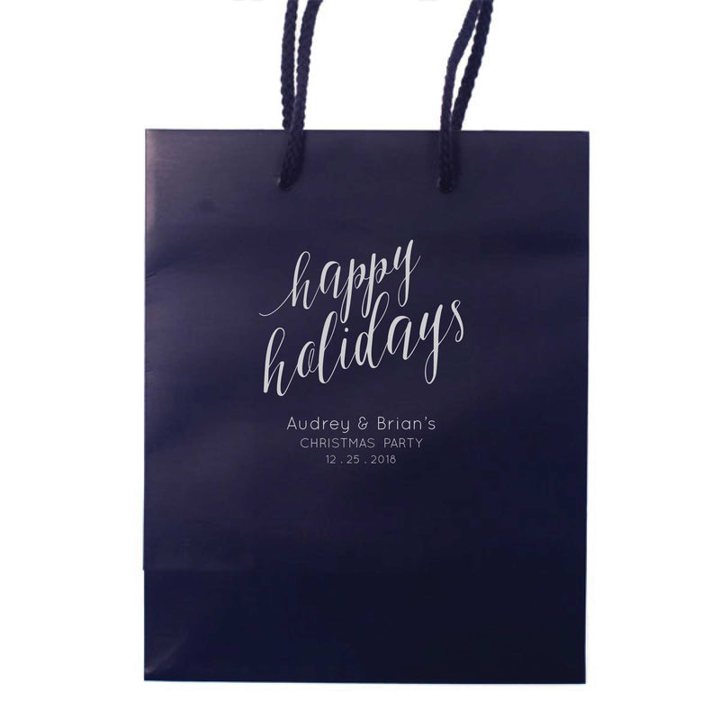 Happy Holidays Gift Bags - Personalized Gift Bag - Mary Collection - Tea and Becky