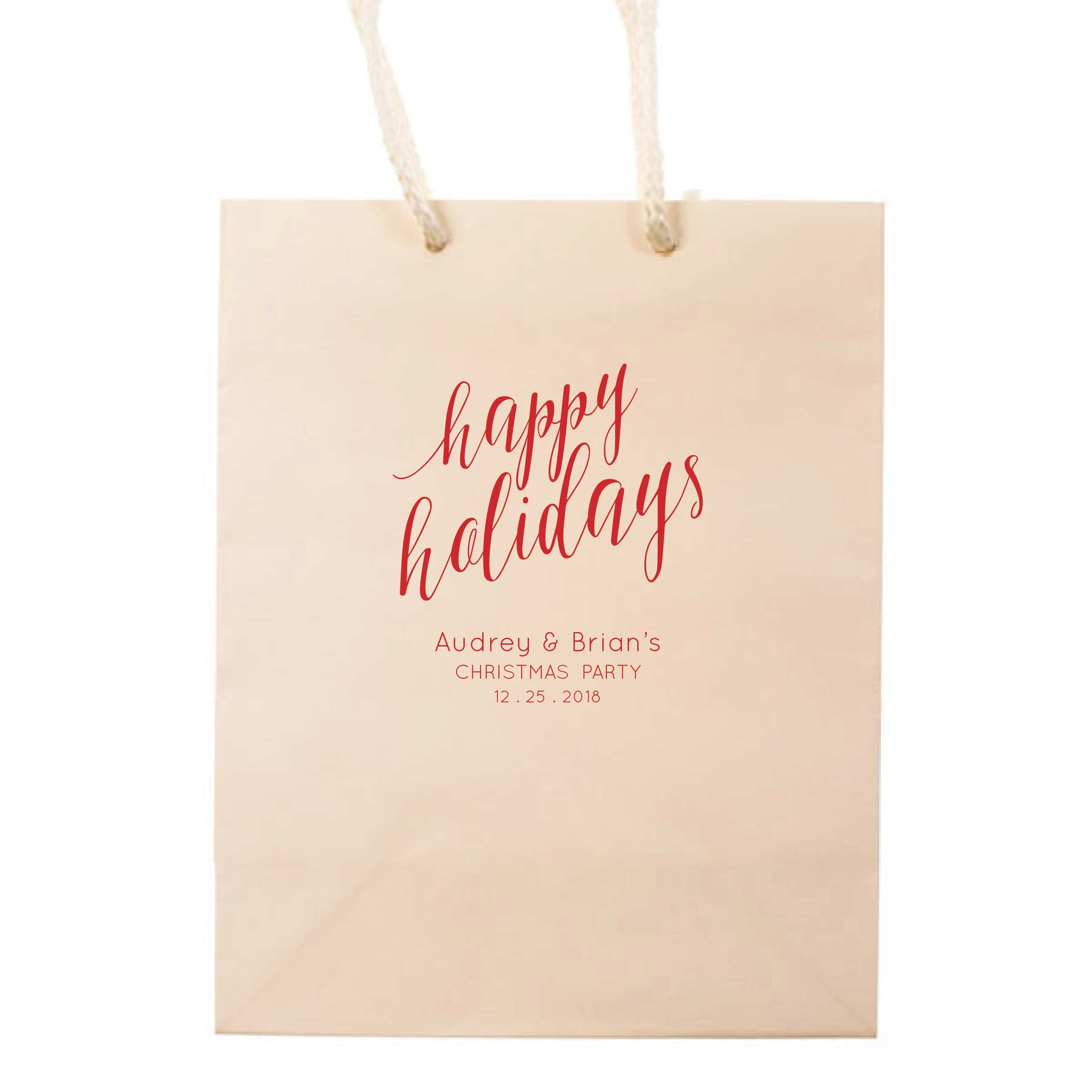 Happy Holidays Gift Bags - Personalized Gift Bag - Mary Collection  sc 1 st  Tea and Becky & Happy Holidays Gift Bags - Personalized Gift Bag - Mary Collection ...