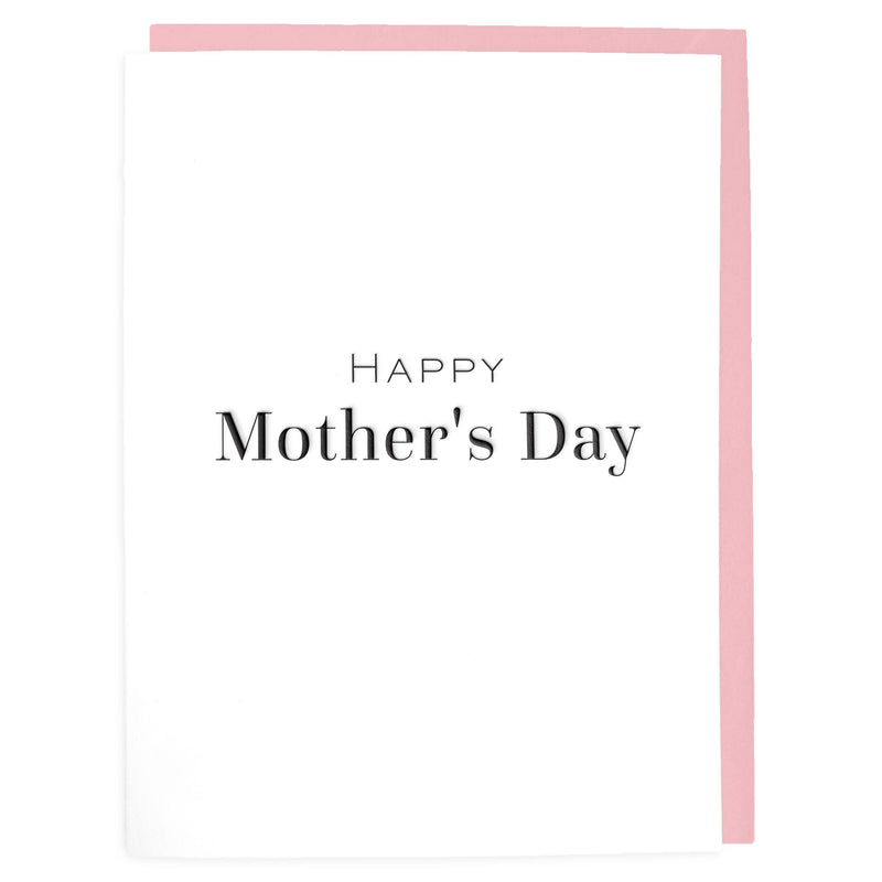 Happy Mother's Day Card - Letterpress Greeting Card - Tea and Becky