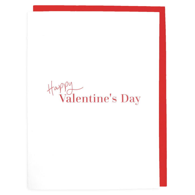 Happy Valentine's Day Card - Letterpress Greeting Card - Tea and Becky