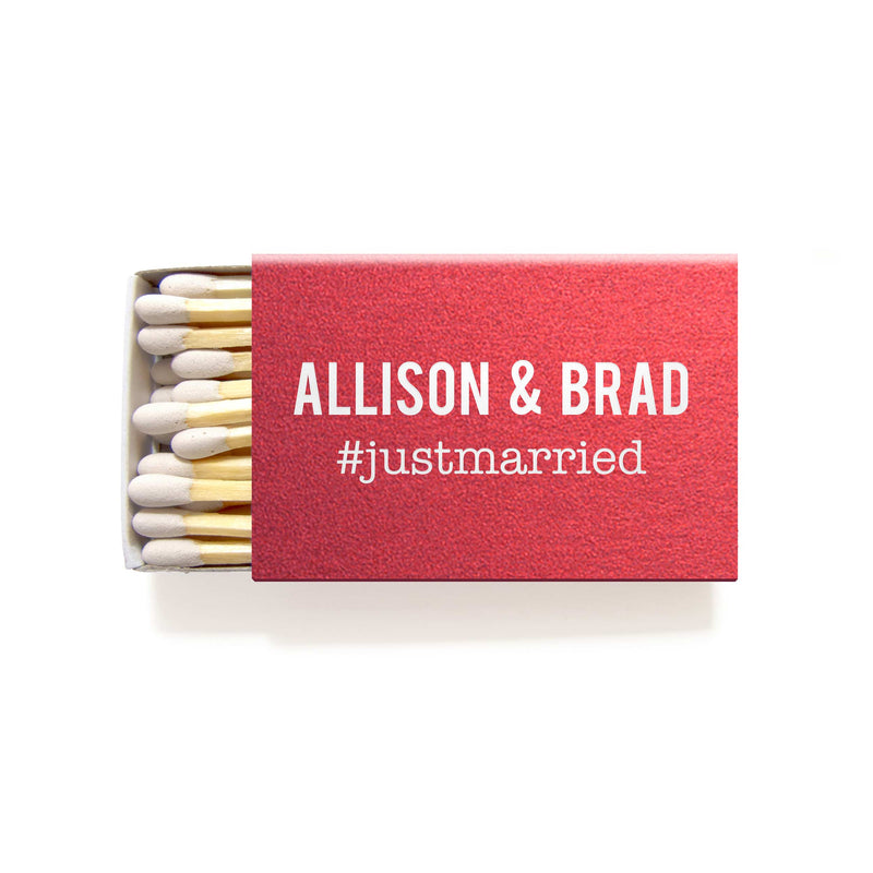 Hashtag Matchboxes - Foil Personalized Matches - Kylie Collection - Tea and Becky