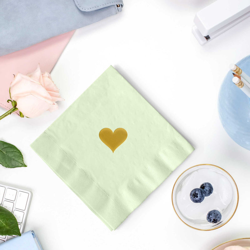 Heart Napkins - Set of 25 - Tea and Becky