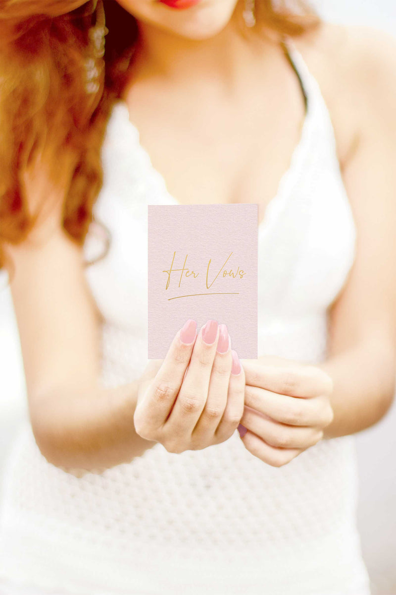 Vow Books - Blush and Navy with Gold Foil - Tea and Becky